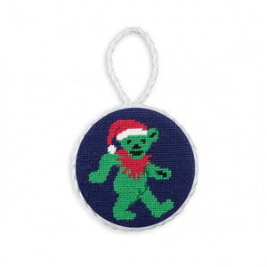 Smathers & Branson Dancing Bear Santa Needlepoint Ornament