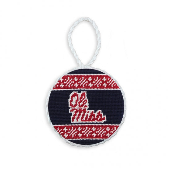 Smathers & Branson Ole Miss Needlepoint Ornament