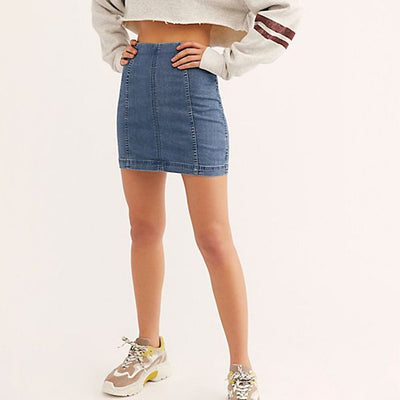 FEMME DENIM MINI SKIRT