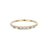 3 ROUND DIAMOND BAGUETTE EQUILIBRIUM RING
