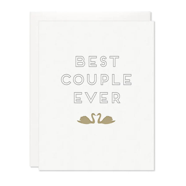 BEST COUPLE EVER SWAN CARD