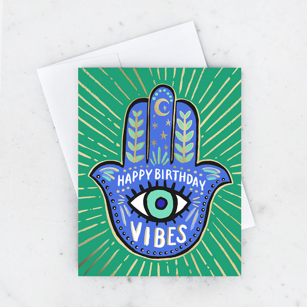 HAMSA BIRTHDAY CARD