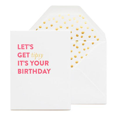TIPSY BIRTHDAY CARD