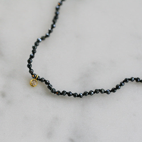 IOLITE & DIAMOND NECKLACE