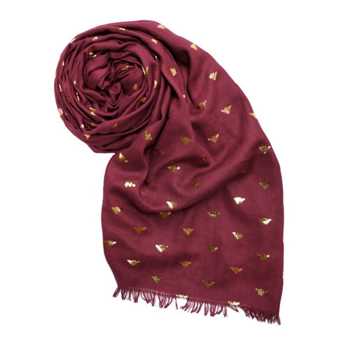 THE BEES KNEES SCARF - RED
