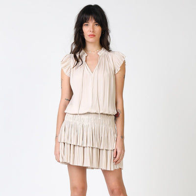 PRETTY PLEATED MINI DRESS