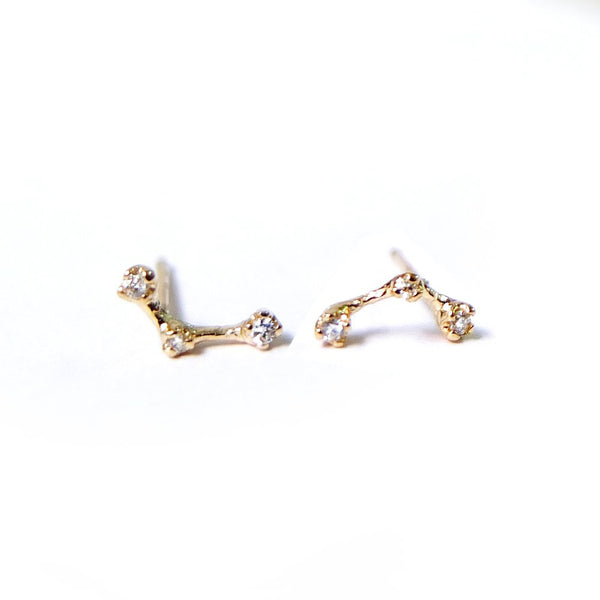 CONSTELLATION THREE DIAMOND EARRINGS