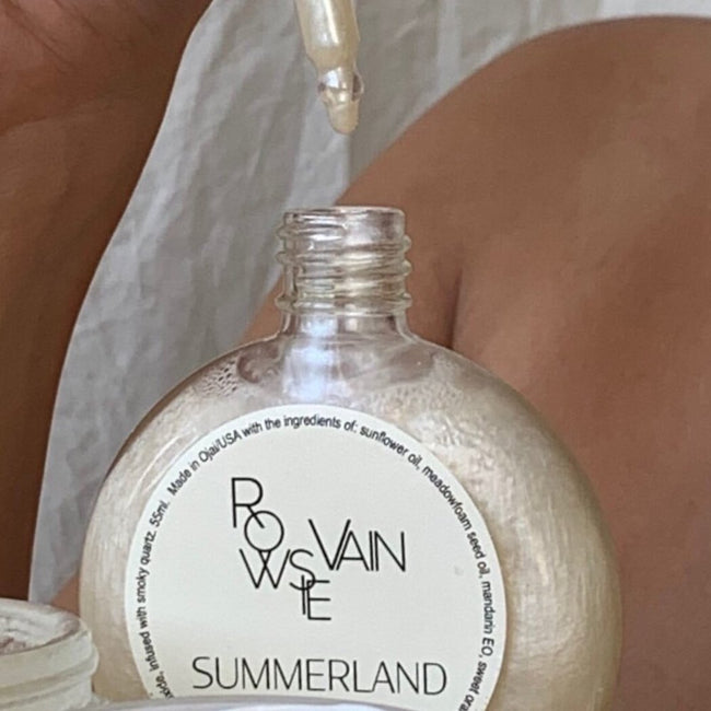 Rowsie Vain Summerland Glow Oil at Katie Diamond in Ridgewood NJ