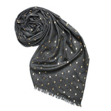 METALLIC SKULLS SCARF - GREY