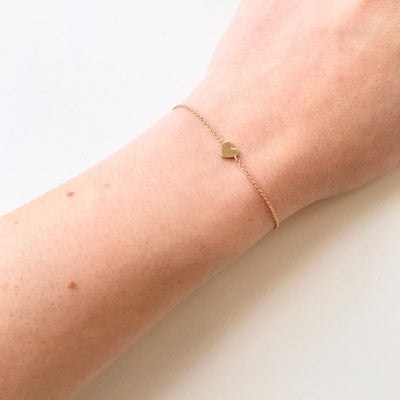 TEENY HEART BRACELET - katie diamond jewelry