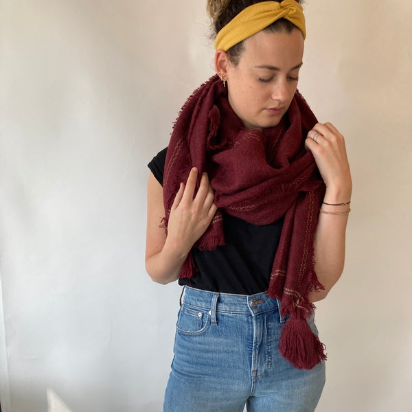 OVER SIZED BLANKET SCARF