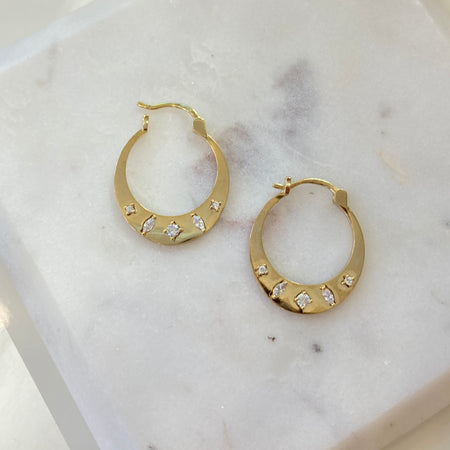 OPAL INLAY HOOPS