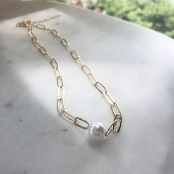 Linked Pearl Choker