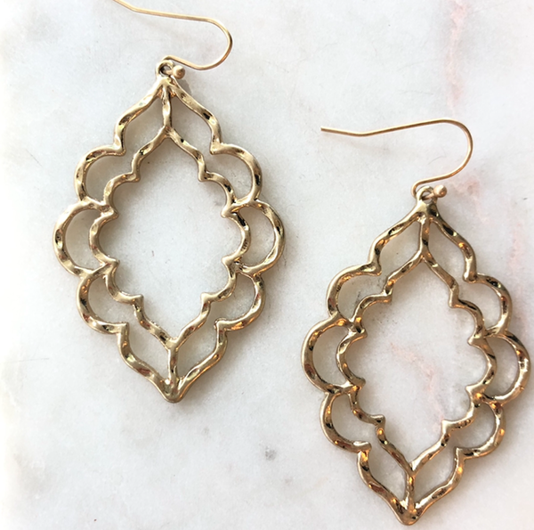 Moroccan Scalloped Earrings