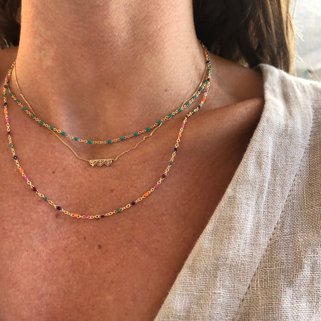 SURFS UP LAYERED CHOKER NECKLACE