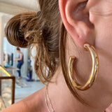 LARGE SHINY HOOPS