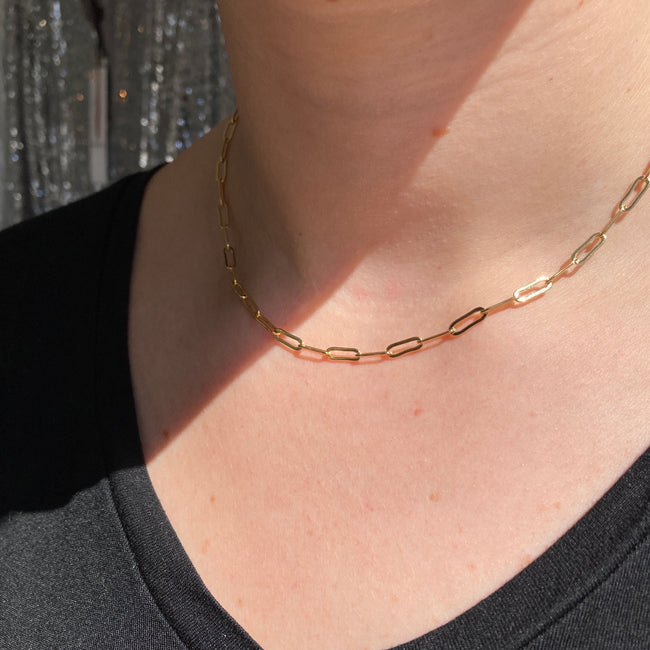 Paperclip Link Chain Necklace
