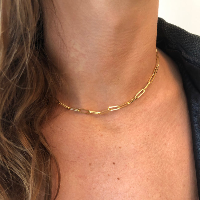 Thick Paperclip Link Chain Necklace