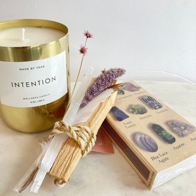 Gemstone Matches Palo Santo Bundle and Candle at Katie Diamond in Ridgewood NJ