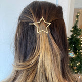 Gold Star Hair Pin Barette