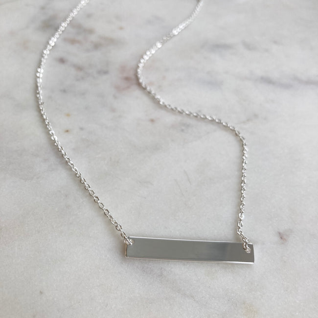 Bar Necklace with custom name or date