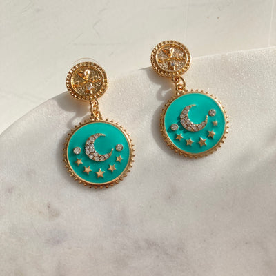 ENAMEL CELESTIAL EARRINGS