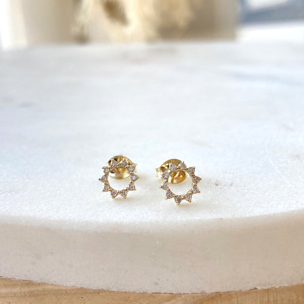 GLEAMING SUN DIAMOND EARRINGS