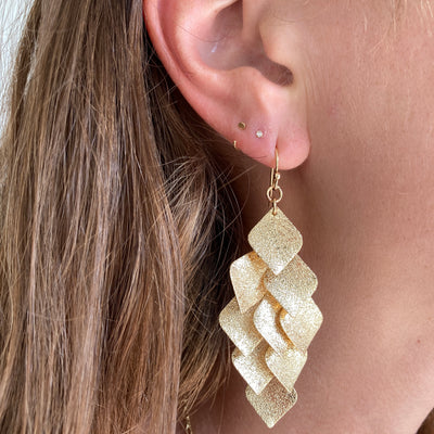 GOLDEN FLAKE EARRINGS
