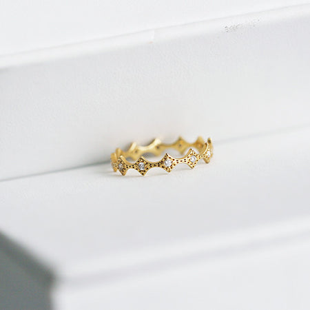 DOUBLE DIAMOND BAND RING