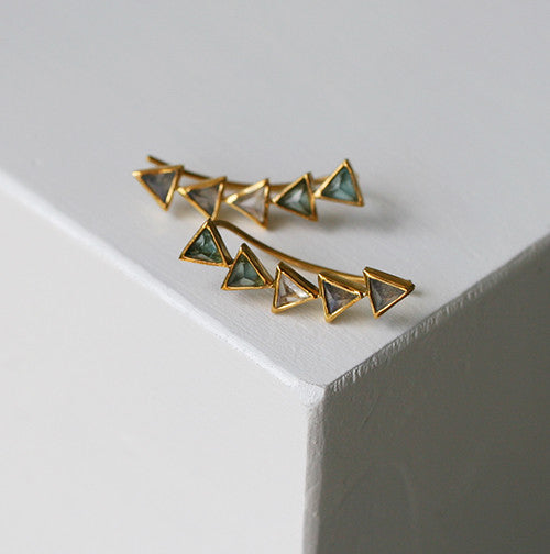 KORA EAR CLIMBERS - katie diamond jewelry