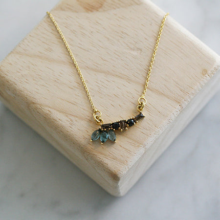 CZ DISC NECKLACE