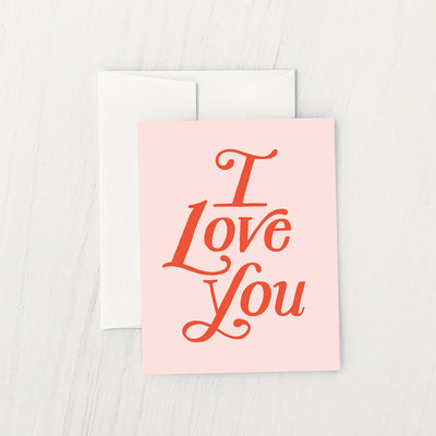 PAPERBACK I LOVE YOU CARD