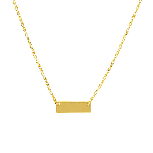 Tiny Engravable Bar Necklace