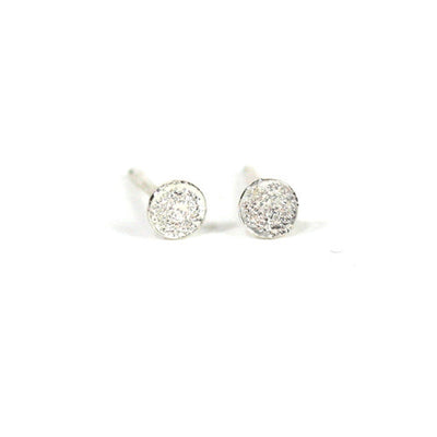 STERLING SILVER MINI DIAMOND DUSTED STUD