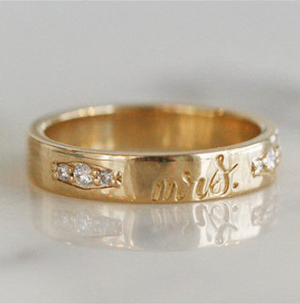 CUSTOM ENGRAVABLE DIAMOND BAND