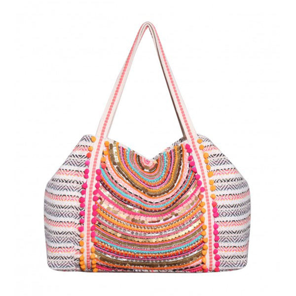 PARADISE JACQUARD SHOULDER BAG