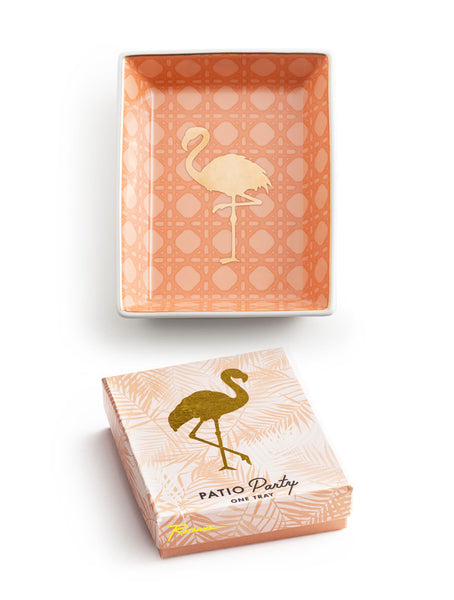 PATIO PARTY TRAY FLAMINGO - katie diamond jewelry