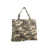 CAMO MAGAZINE TOTE WITH GLITTER MONOGRAM STRIPE - katie diamond jewelry