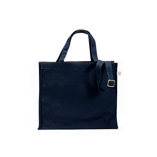 MAGAZINE TOTE WITH MONOGRAM STRIPE
