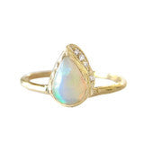 RAINDROP OPAL RING - katie diamond jewelry