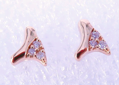DIAMOND THORN STUD EARRINGS