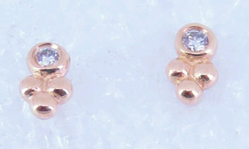GOOD AS GOLD DIAMOND STUD EARRINGS