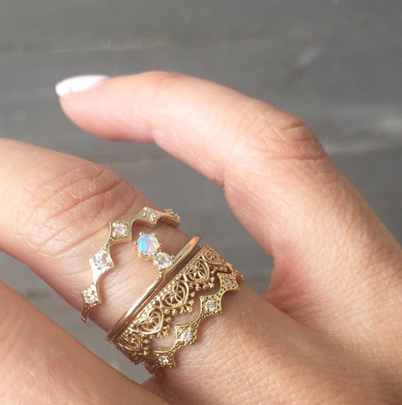 LEILA RING - katie diamond jewelry