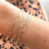 Thin Gold Quote Bangle