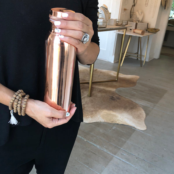 AYURVEDIC COPPER WATER BOTTLE - katie diamond jewelry