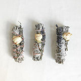 SMALL LAVENDER CRYSTAL SMUDGE STICK