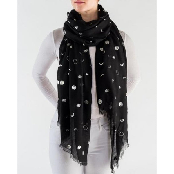 METALLIC MOON PHASES SCARF