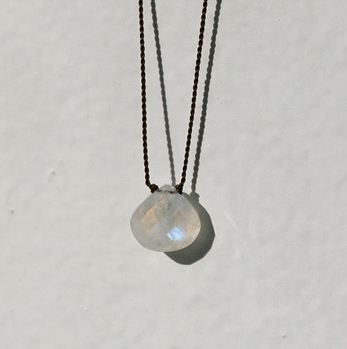 RAINBOW MOONSTONE ZEN GEM NECKLACE