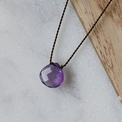 AMETHYST ZEN GEM NECKLACE