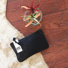 BLACK MAE POUCH - katie diamond jewelry